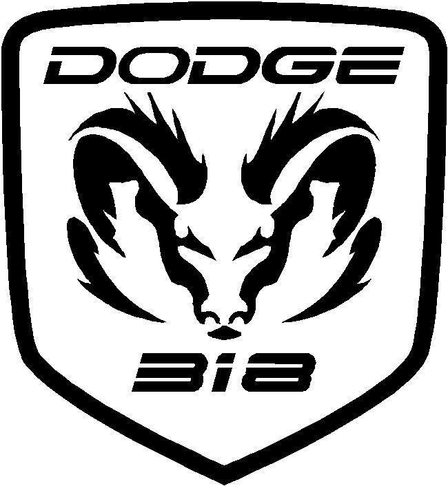 Tribal Rams Head Hemi 318 Dodge Decal Sticker Truck Fits Barrucuda