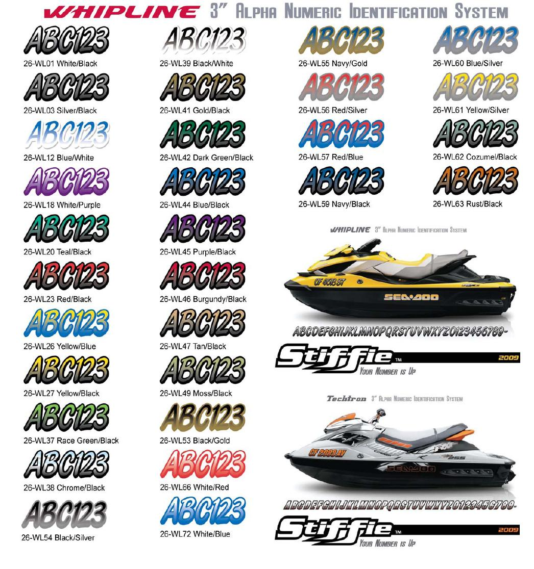 Boat Registration Numbers Decals factory matched to your boat