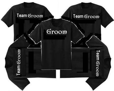(7)Team Bride & (7) Team Groom Wedding Tshirts
